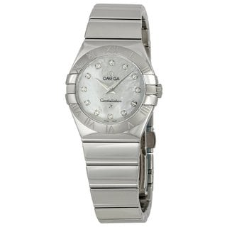 Omega Women's 12310276055002 Constellation White Mother of Pearl Watch