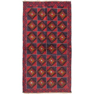 eCarpetGallery Hand-knotted Bahor Blue, Red Wool Rug (3'5 x 6'5)
