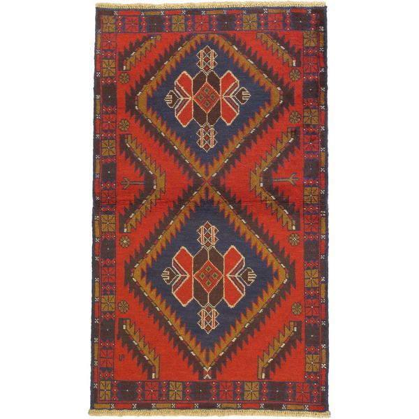 eCarpetGallery Hand-knotted Kazak Red Wool Rug - 3'6 x 6'0
