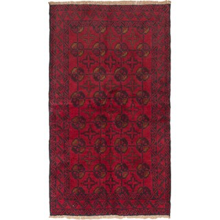 ecarpetgallery Red Wool Hand-knotted Baluch Rug (3'5 x 5'11)