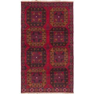 ecarpetgallery Hand-knotted Kazak Red Wool Rug (3'7 x 6'3)