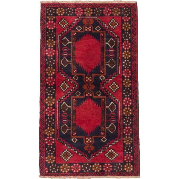 eCarpetGallery Hand-knotted Kazak Blue/Red Wool Rug (3'6 x 6')