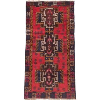 ecarpetgallery Hand-knotted Kazak Red Wool Rug (3'5 x 6'4)