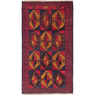 eCarpetGallery Hand-knotted Bahor Brown, Red Wool Rug (3'6 x 6'3)