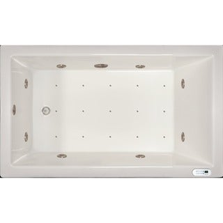 Signature Bath White Acrylic Drop-in Whirlpool Combo Tub with LED Lighting and Waterfall (2 options available)