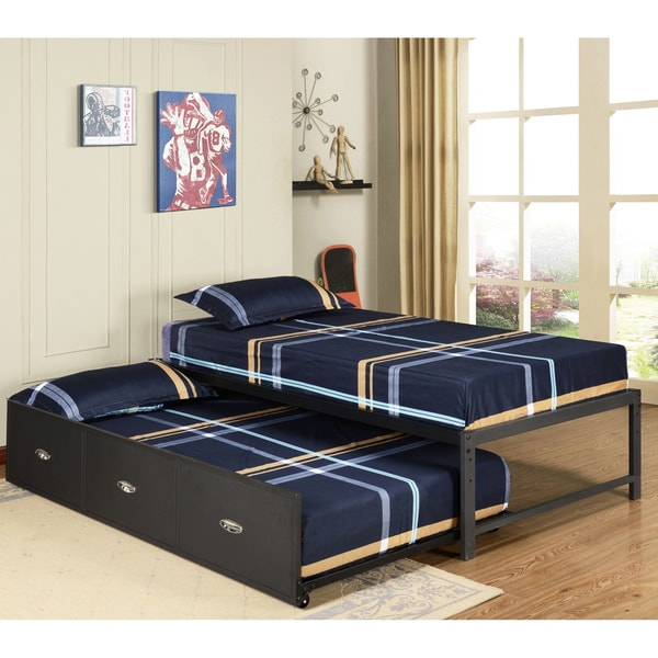 Shop K Amp B B39 124 Metal Twin Size Day Bed Frame With
