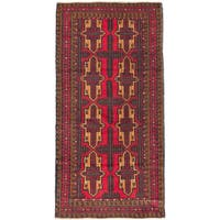 eCarpetGallery Hand-knotted Red Wool Royal Baluch Rug (3'3 x 6'5)