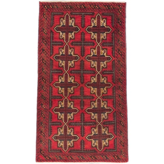 eCarpetGallery Royal Baluch Red Wool Hand-knotted Rug (3'5 x 5'10)