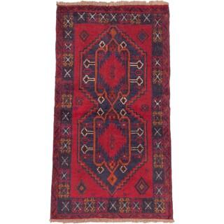 eCarpetGallery Hand-knotted Red Wool Kazak Rug (3'5 x 6'2)