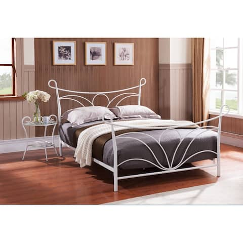 K and B Furniture Casual White Metal Twin Bed