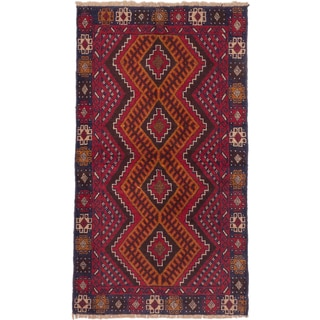 eCarpetGallery Hand-knotted Kazak Orange, Red Wool Rug (3'5 x 5'10)