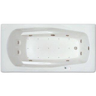 Signature Bath White Acrylic Drop-in Whirlpool/Air Combo Tub