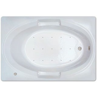 Signature Bath White Acrylic Drop-in Air Tub
