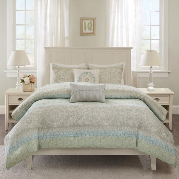 Harbor House Adeline Multi Cotton 5-piece Duvet Cover Set