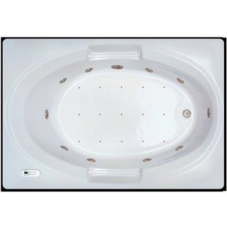 Signature Bath White Acrylic 60-inch x 42-inch x 18-inch Drop-in Whirlpool/Air Combo Tub