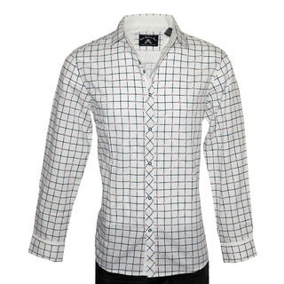 Rock Roll N Soul Men's 'CROSSROADS' White Cotton Long-sleeve Shirt