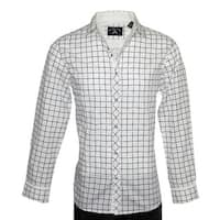 Men's 'Crossroads' Long Sleeve Casual Fashion Button Up Shirt by Rock Roll n Soul