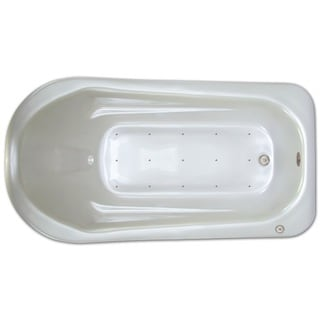 Signature Bath White Acrylic 72-inch x 36-inch x 18-inch Drop-in Air Bathtub