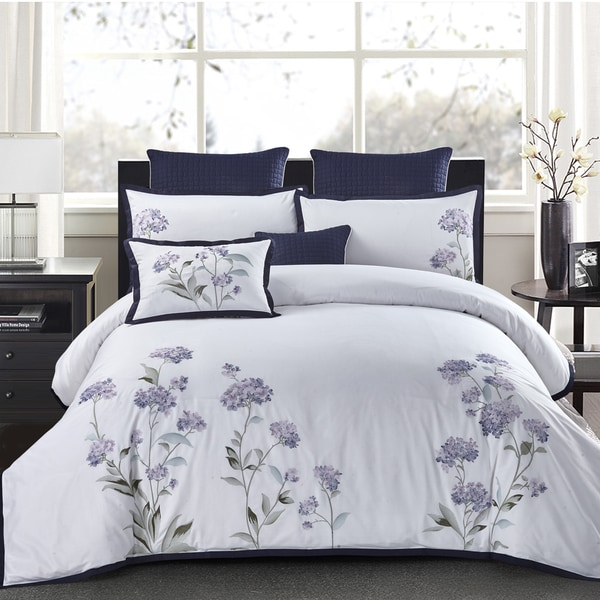 Shop Hydrangea 3 Piece Duvet Cover Set Free Shipping