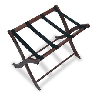 Winsome 610-94420 Brown Wooden 18.7-inch x 26.5-inch x 20-inch Home Indoor Storage Luggage Rack