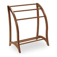 Walnut Finish Solid Wood Quilt Rack