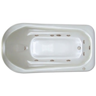 Signature Bath White Acrylic Drop-in Whirlpool Bathtub
