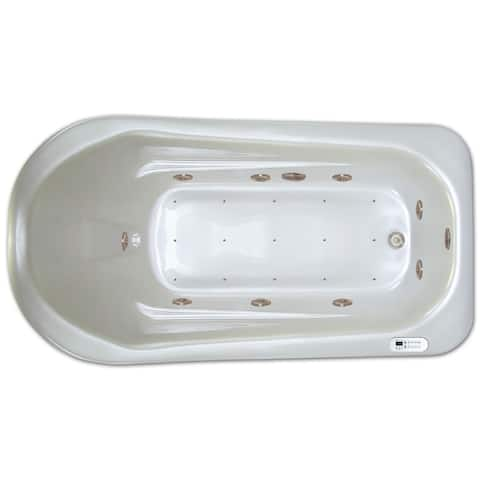 Signature Bath LPI279-C White Acrylic 72-inch x 36-inch x 18-inch Drop-in Whirlpool/Air Combo Tub