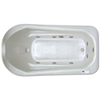Signature Bath LPI279-C White Acrylic 72-inch x 36-inch x 18-inch Drop-in Whirlpool/Air Combo Tub