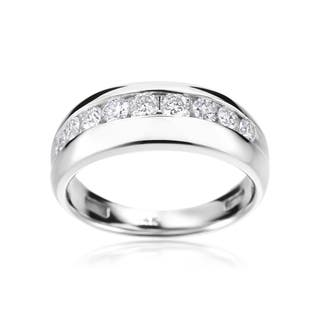 SummerRose 14k White Gold Men's 1-carat Diamond Ring|https://ak1.ostkcdn.com/images/products/12045774/P18915908.jpg?impolicy=medium