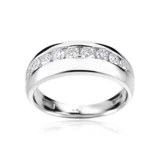 SummerRose 14k White Gold Men's 1-carat Diamond Ring