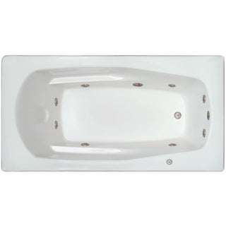 Signature Bath White Acrylic Whirlpool Drop-in Bathtub