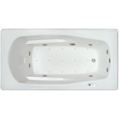 Signature Bath White Acrylic Drop-in Whirlpool Combo Tub