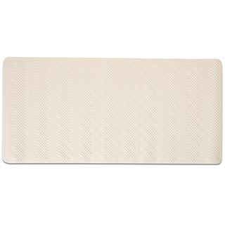 Extra Large Non-Slip Natural Rubber 'Breeze' 39-inch x 19.25-inch Beige or White Bath Mat