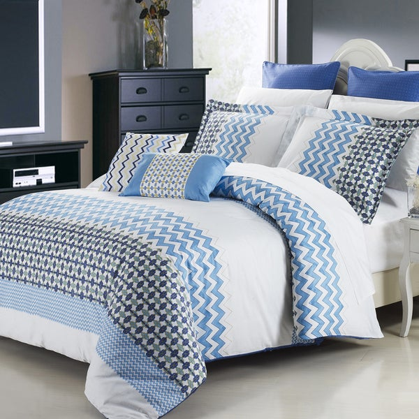 Mykonos 3 Piece Cotton Duvet Cover Set