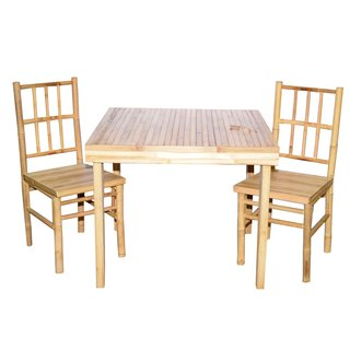 Outdoor Bamboo 3-piece Dining Set (Vietnam)