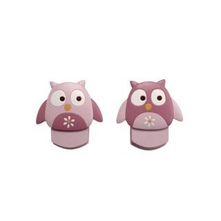 NoJo Girl's Owl Wall Decor Clips