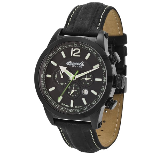 8fcfb1e90 Shop Ingersoll Men's Taos Black Analog Watch - Free Shipping Today ...