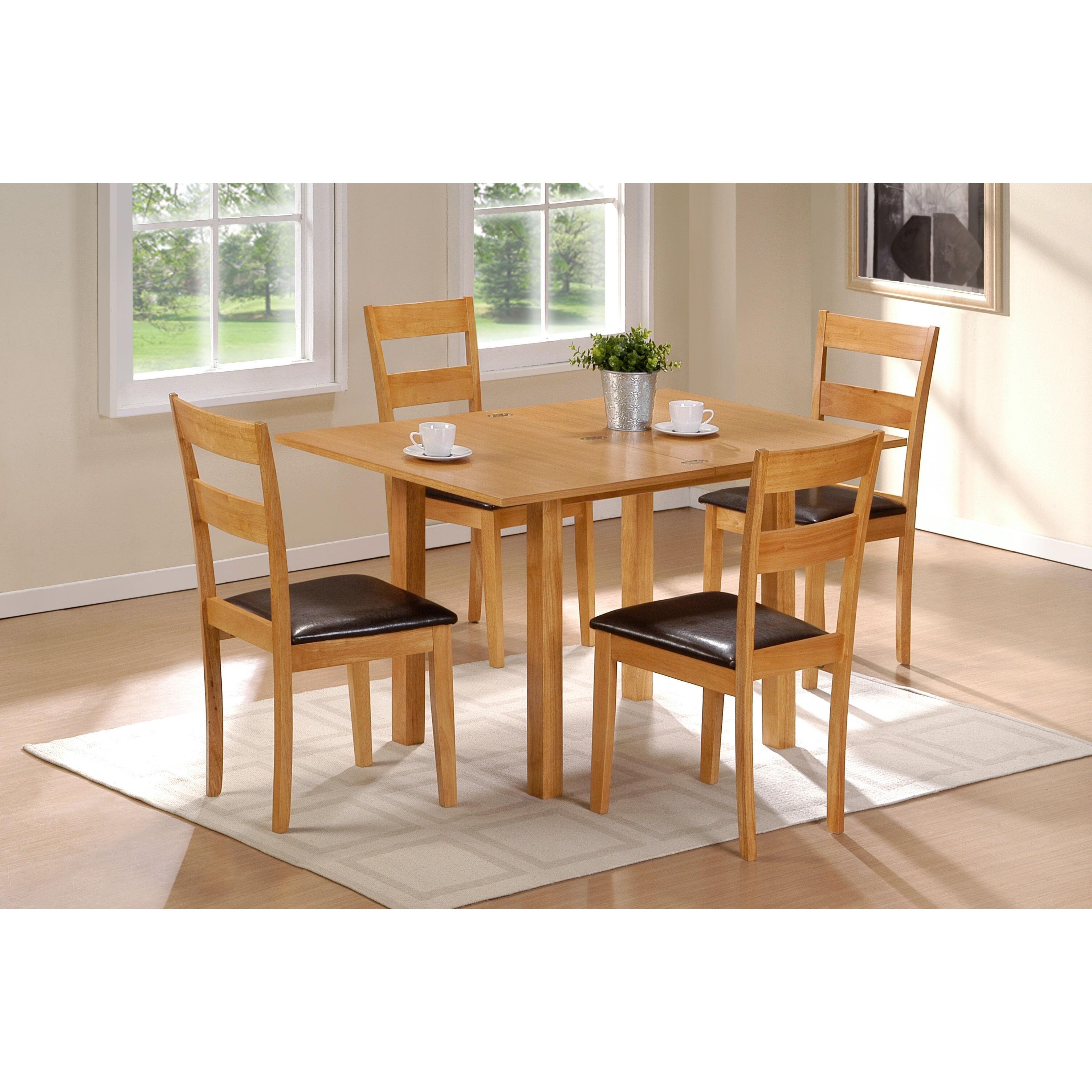 Scandinavian Lifestyle Colorado 5-piece Dining Set with F...
