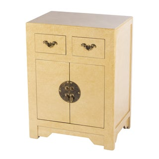 Zahava Home Collection Ningbo Ivory End Table / Nightstand (China)
