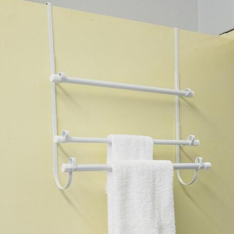 Over The Door Towel Rack - White