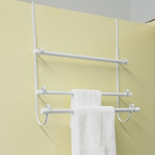 Over The Door Towel Rack - White