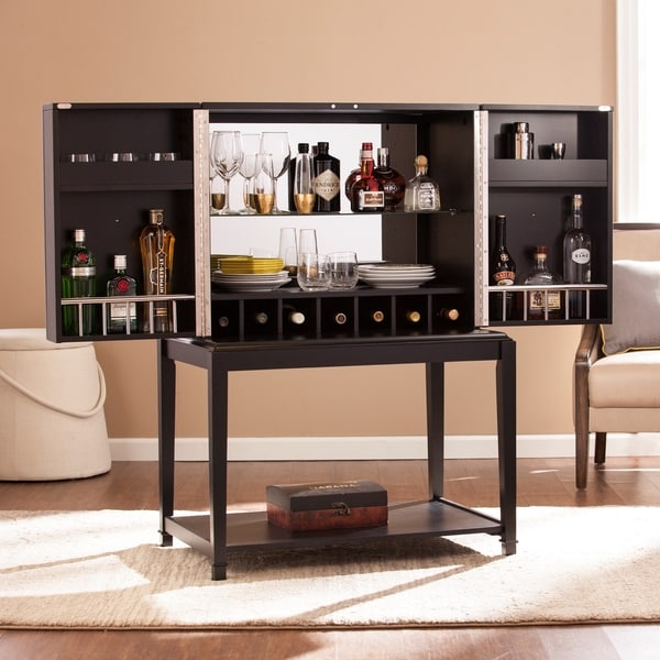 20 Hassle Free Zen Dining Room Decorating Ideas: Harper Blvd Shania Bar Cabinet