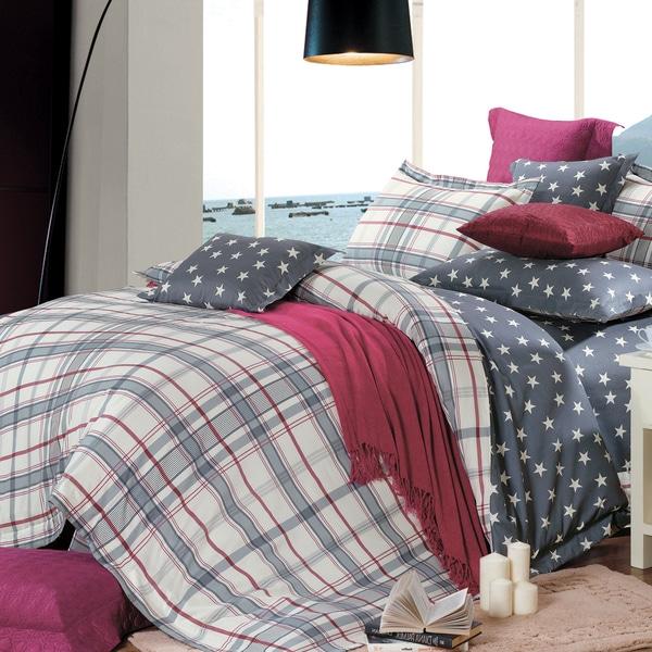 Oxford  Cotton 4-Piece Duvet Cover Set