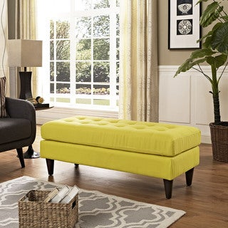 Empress Tufted Fabric Bench