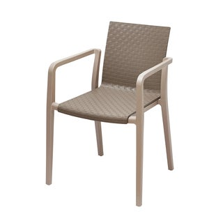Hunter Grey and Beige Two-Tone Stackable Chair (Set of 2)