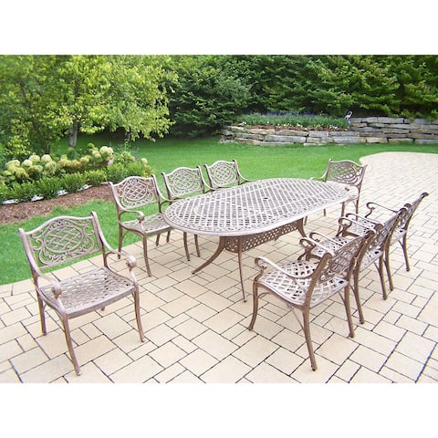Oakland Living Dakota Cast Aluminum 9-piece Outdoor Dining Set