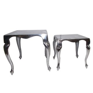 Set Of Two Aluminium Tables