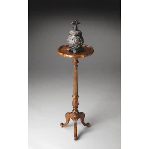 Handmade Chatsworth Vintage Oak Pedestal Plant Stand