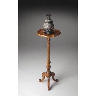 Butler Chatsworth Vintage Oak Pedestal Plant Stand
