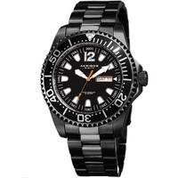 Akribos XXIV Men's Quartz Diver Style Date Stainless Steel Black Bracelet Watch
